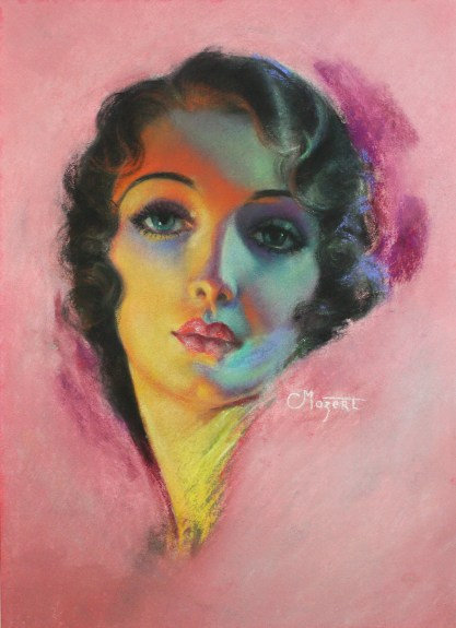 Full view of pastel on illustration board