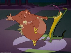Ben Ali-Gator dancing with Hyacinth Hippo in Disney's Fantasia