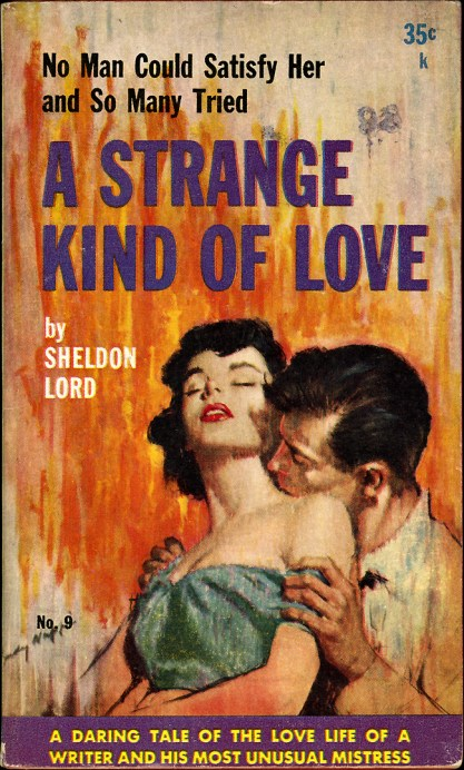 The artwork as it appeared as the cover of A Strange Kind Of Love