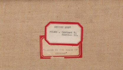 Verso labels and title as designated by The Cream of Wheat Company