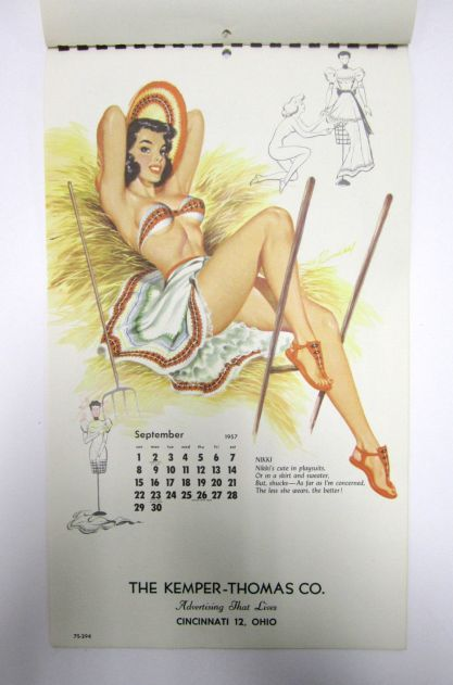 Published calendar page of Nikki