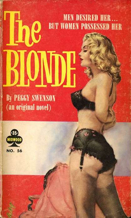 The artwork as it appeared as the cover for The Blonde