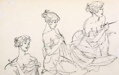 Detail of sketchbook elements