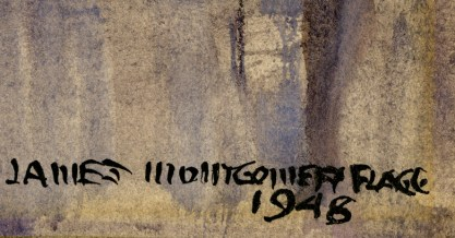 The artist's signature and date of 1948 lower right