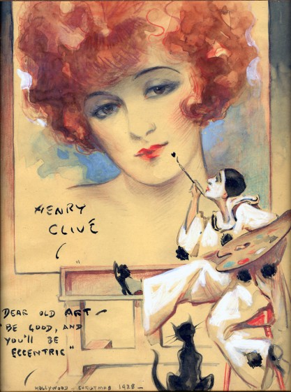 Henry Clive's Flapper Girl Painted by Pierrot