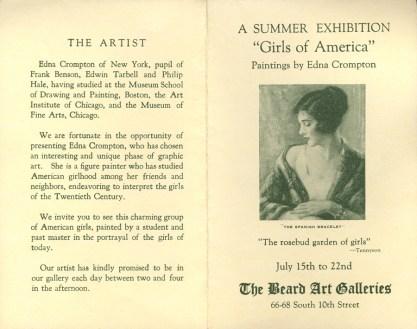 Beard Galleries Exhibit Brochure, included in sale