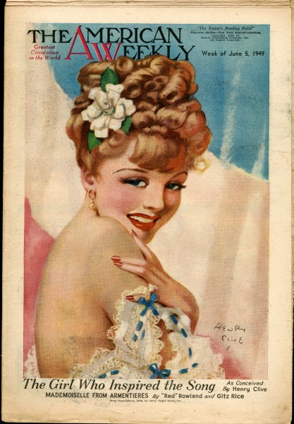 The painting as it appeared as the cover of The American Weekly, June5, 1949