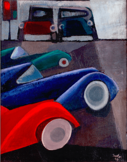 Cityscape of Cars by Alfred Statler