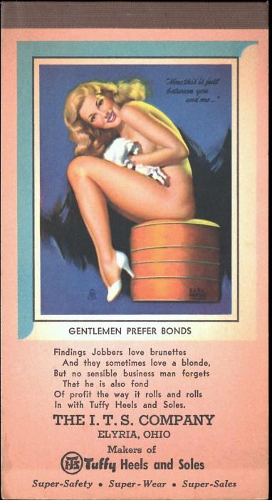 Gentlemen Prefer Bonds advertising tablet