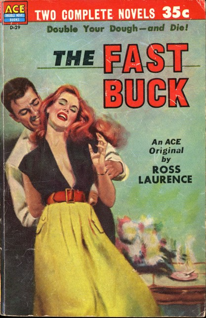 The artwork as it appears on the cover of The Fast Buck