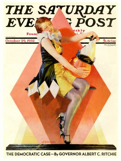 The October, 1932 edition of The Saturday Evening Post - with a cover by J. Walter Wilkinson