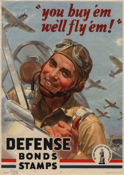 Keep 'Em Flying War Bond Poster by J.Walter Wilkinson