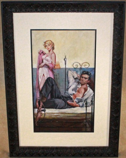 Framed and silk matted behind glass view