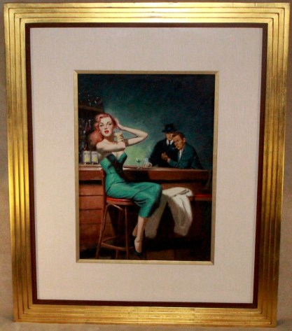 Framed and silk matted in period gallery grame