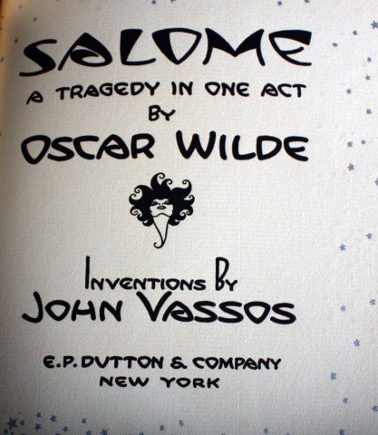Book title page text