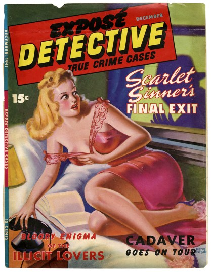 Image as it appeared as the cover for Expose Detective-True Crime Cases, December 1941- Included in sale