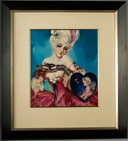 Framed and silk matted behind glass in custom made gallery frame