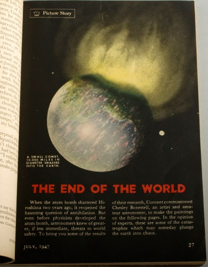 The End of the World Picture Story, titled page 27 - Illustrated by Chesley Bonestell