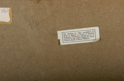 Verso Brown & Bigelow label