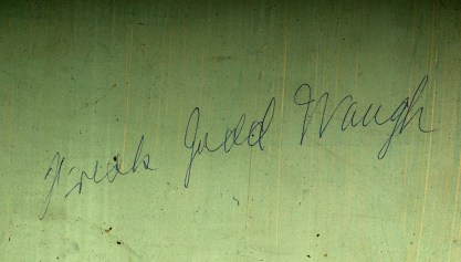 Artist's signature verso detail