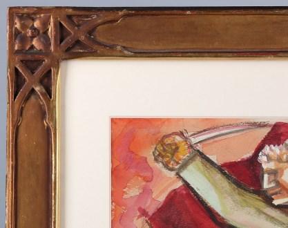 Corner frame detail