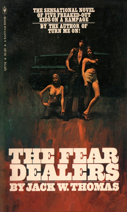 The painting as it appeared as the cover for The Fear Dealers