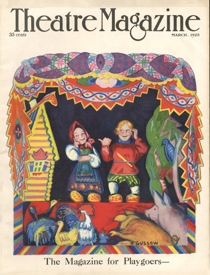 The Illustration As The March, 1925 Cover For Theater Magazine (Included In sale)