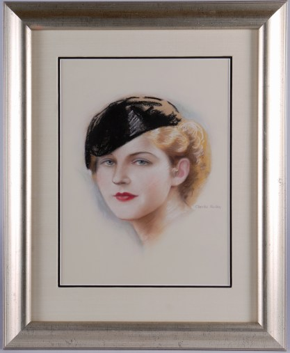 Framed and silk matted under glass view