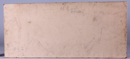 Verso view of masonite panel