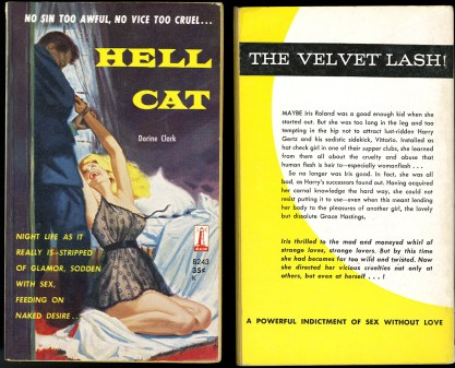 The illustration as it appeared as the cover for Hell Cat - Beacon Books (included in sale)