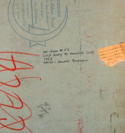 Verso notations identifying artist