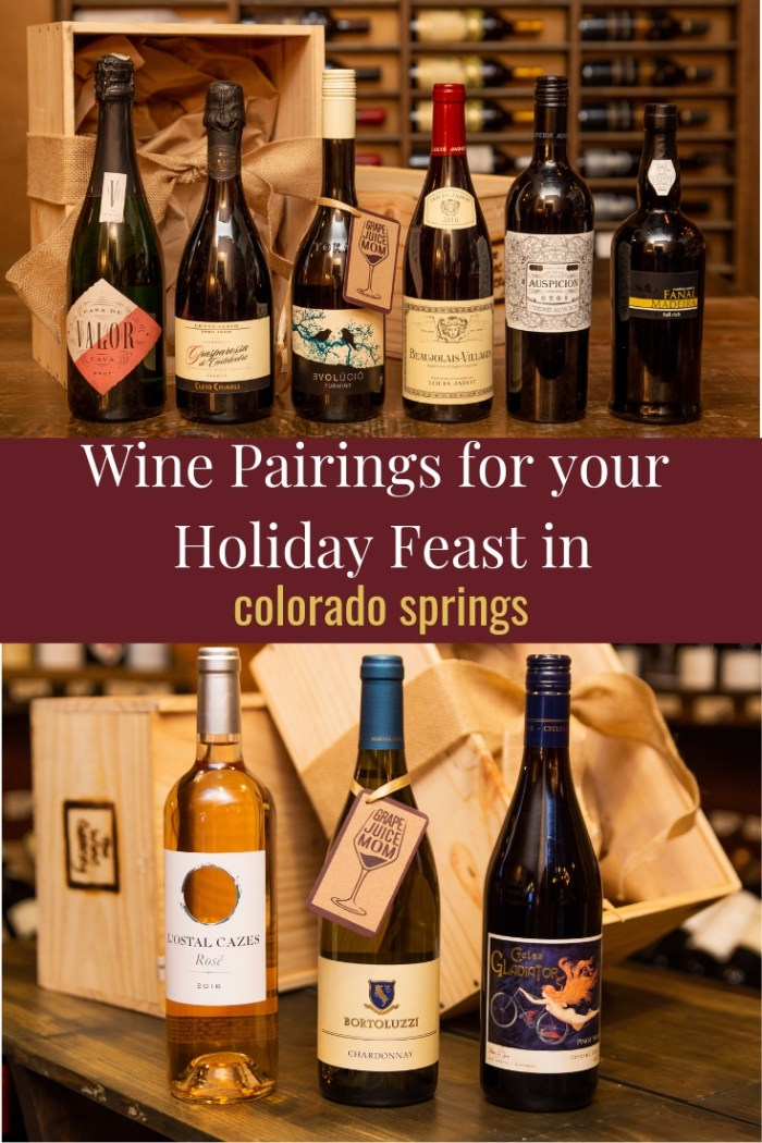 Holiday Wine Pairings in Colorado Springs
