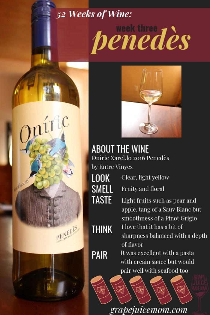 Penedès Penedes Sauvignon Blanc Pinot Grigio 52 Weeks of Wine Grape Juice Mom