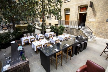 Hix City's outside terrace