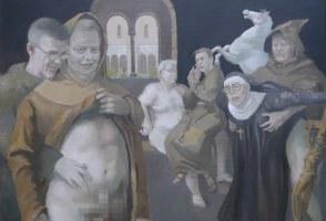Icelandic Artist Interprets Klausturgate In New Painting (NSFW)
