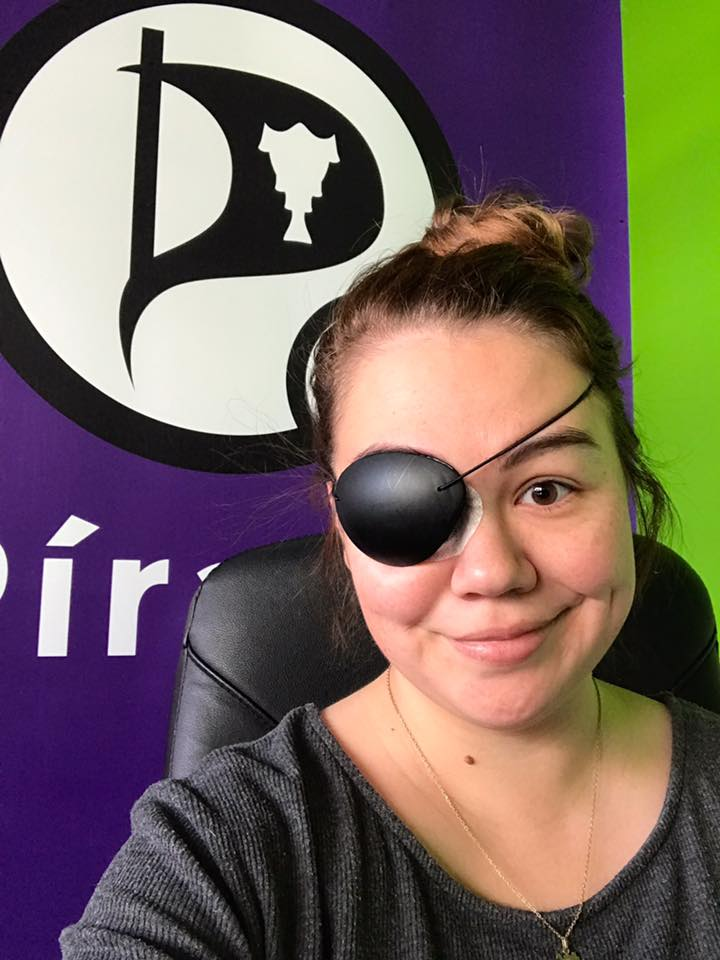 Pirate Party MP Forced To Wear Eyepatch To TV Debate
