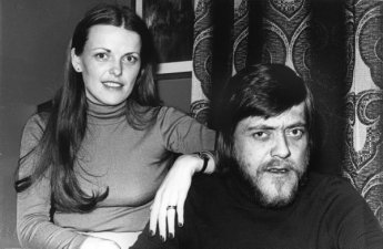 Um 1975, Þóra Guðmundsdóttir og ´Vilhjálmur Vilhjálmsson söngvari.