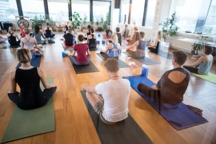 Restoring balance in life at a yoga class.