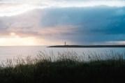 Sunset action near vopnafjarðarhreppur