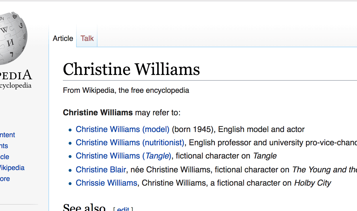 Who The Hell Is Christine Williams?