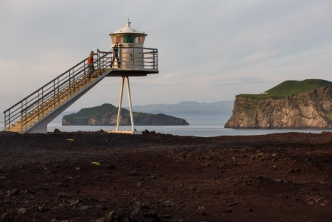 Urðar Lighthouse. Build in 1986, 7m height.