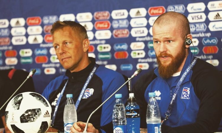 Iceland Pre-Game Press Conference Reveals Captain Aron Set To Start