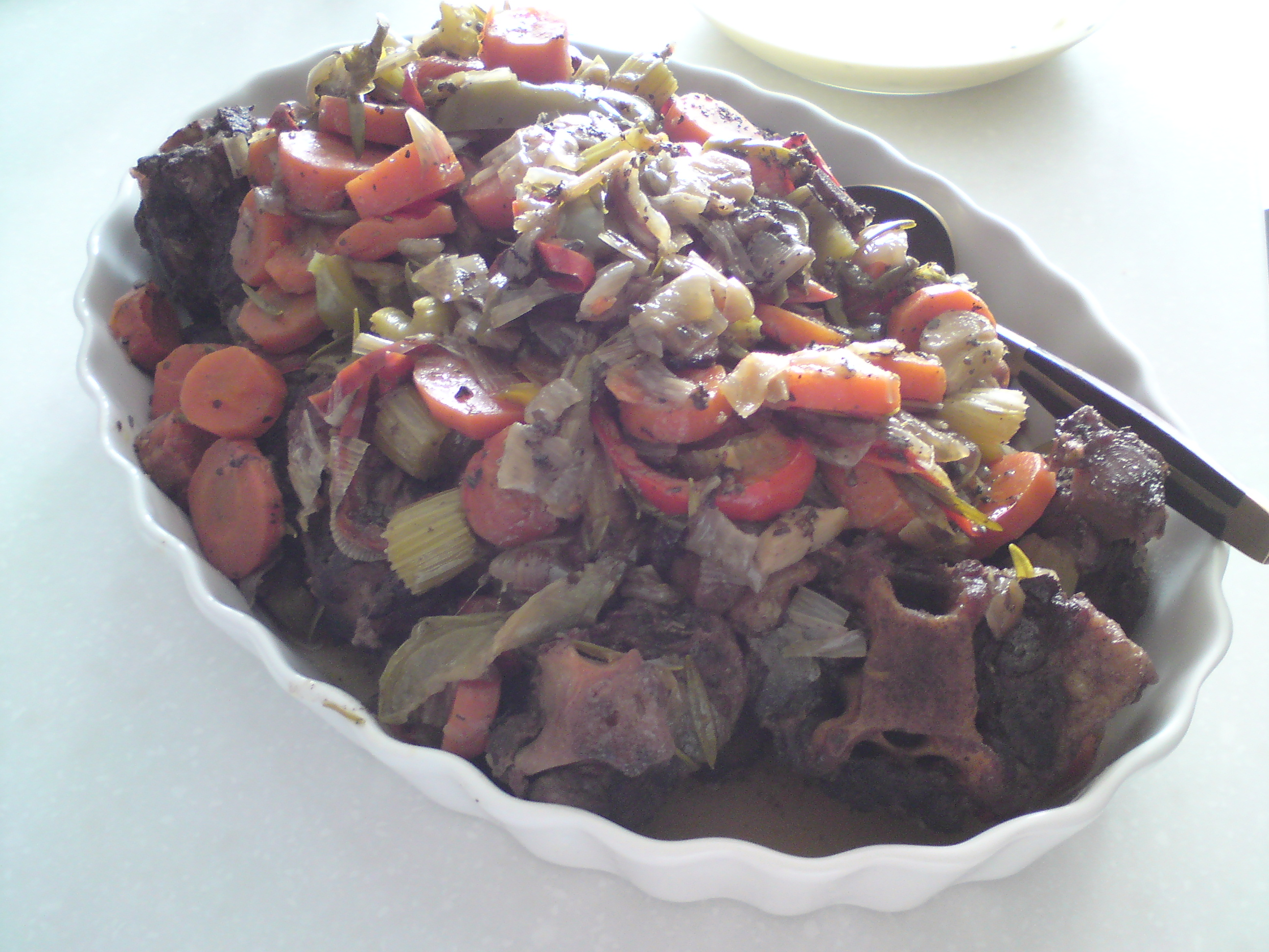 Slow Cooked Oxtail in Red Wine