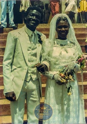 Bishop Charles Agyinasare and wife on their wedding day