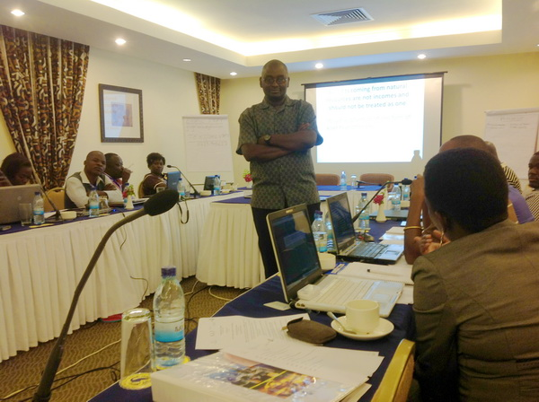Mr Amani Mustafa Mhinda, a lawyer & executive director of HakiMadini in Tanzania, during one of the sessions.