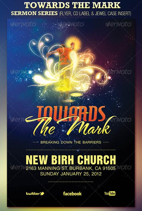 GraphicRiver Towards The Mark Sermon Series Flyer Amp CD Template