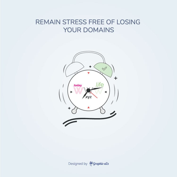 Free vector Remain Stress Free of Losing Your Domains