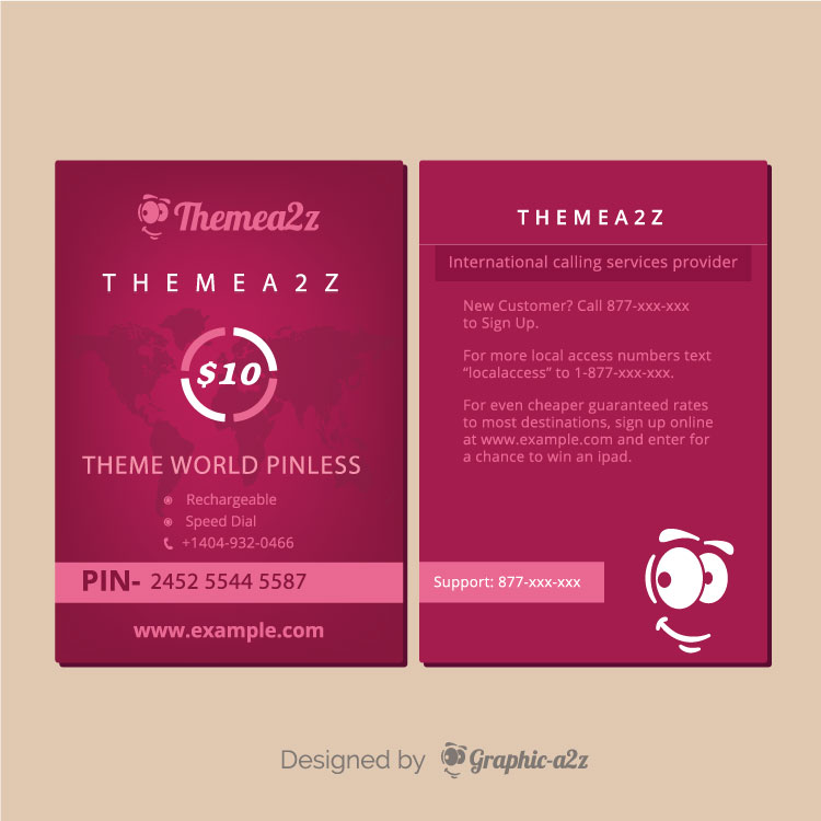 Calling card vector design for business
