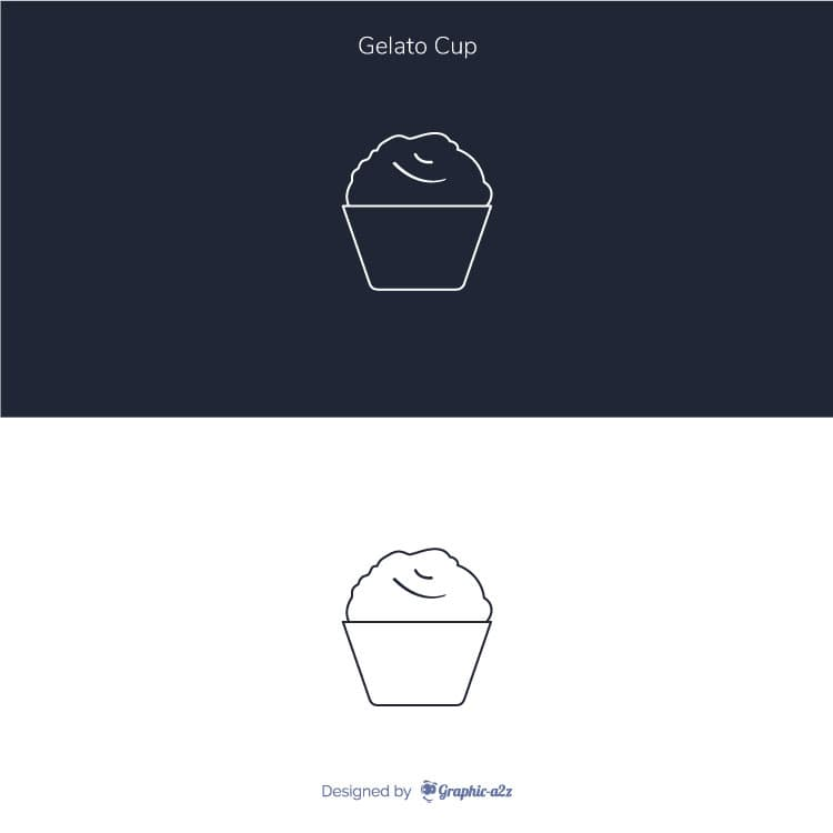 Lineal Gelato Cup Vector Icon design