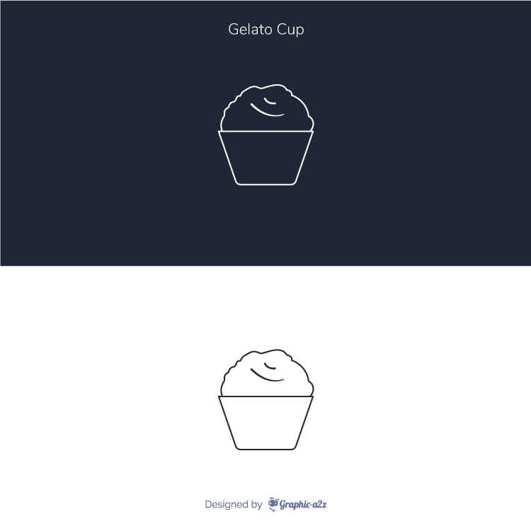 Lineal Gelato Cup Vector Icon design